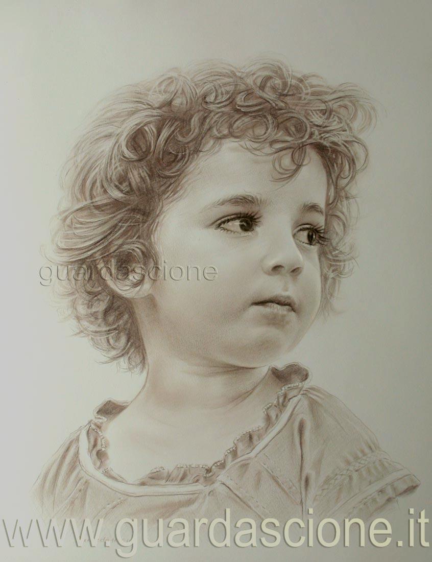 Molto Immagini di Bambini Disegnati a MATITA WW57