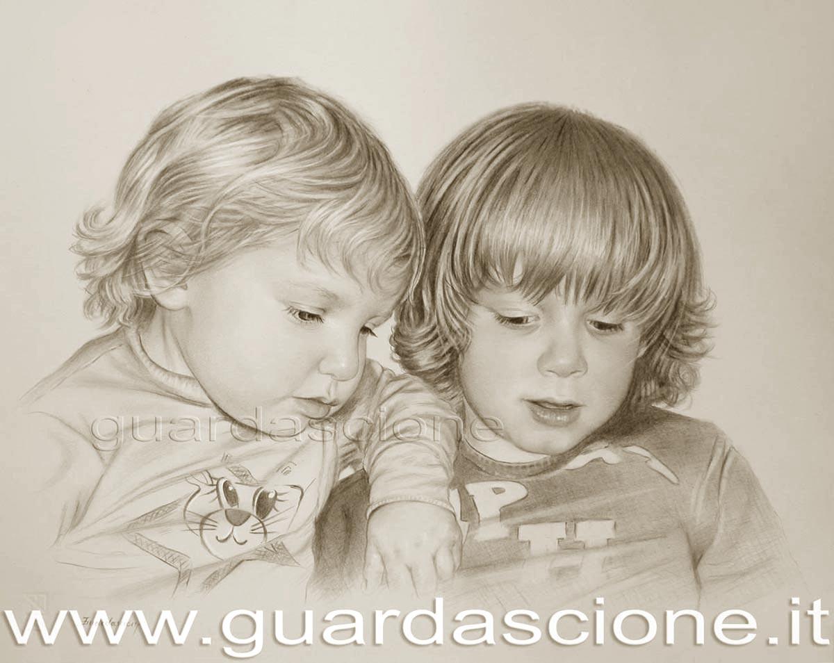 Trasformare le foto dei miei bambini in ritratti dipinti ritratto di