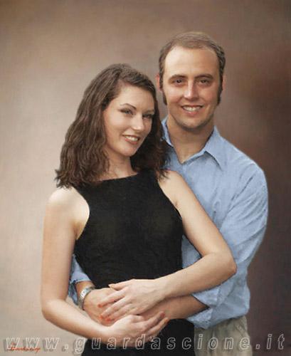Ritratti di innamorati ritratto di coppia - Foto di innamorati a letto ...
